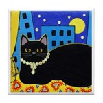 City Black CAT Art Tile