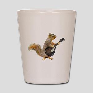 Squirrel Mandolin Shot Glass