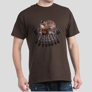 4 Wolves Dreamcatcher Dark T-Shirt
