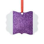 Purple faux glitter Picture Ornament