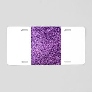 Purple faux glitter Aluminum License Plate