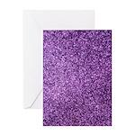 Purple faux glitter Greeting Card