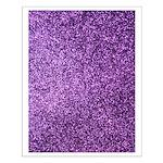 Purple faux glitter Poster Design