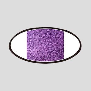 Purple faux glitter Patches