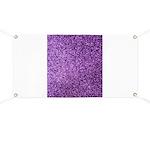 Purple faux glitter Banner