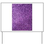 Purple faux glitter Yard Sign