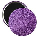 Purple faux glitter Magnet