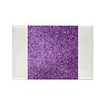 Purple faux glitter Rectangle Magnet (100 pack)