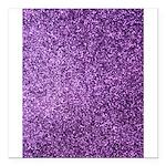 Purple faux glitter Square Car Magnet 3