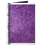 Purple faux glitter Journal