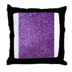 Purple faux glitter Throw Pillow