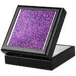 Purple faux glitter Keepsake Box