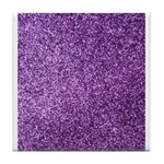 Purple faux glitter Tile Coaster