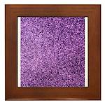 Purple faux glitter Framed Tile