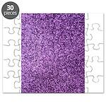 Purple faux glitter Puzzle
