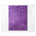 Purple faux glitter King Duvet