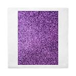 Purple faux glitter Queen Duvet