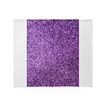 Purple faux glitter Throw Blanket