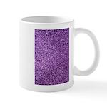 Purple faux glitter Small Mug
