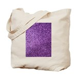 Purple faux glitter Tote Bag