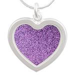 Purple faux glitter Necklaces