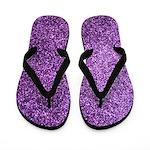 Purple faux glitter Flip Flops