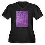 Purple faux glitter Plus Size T-Shirt