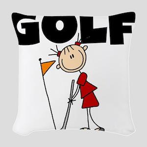 girlGOLFATEE Woven Throw Pillow