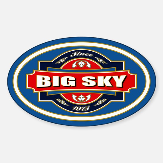 Big Sky Old Label Sticker (Oval)
