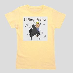 I Play Piano Girl's Tee