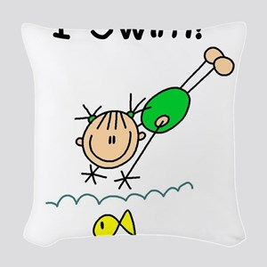 ISWIMGIRLTEE Woven Throw Pillow