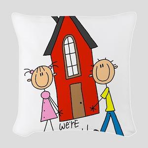 WEREMOVINGTEE Woven Throw Pillow