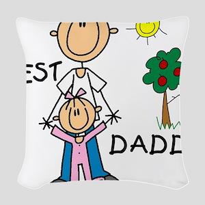 bestdaddytshirt Woven Throw Pillow