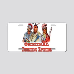 Original Founding Fathers Aluminum License Plate