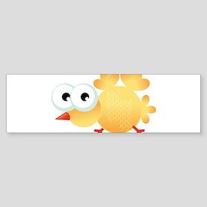 Yellow Cartoon Bird Bumper Sticker