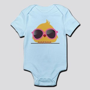 Chick Wearing Sunglasses Body Suit