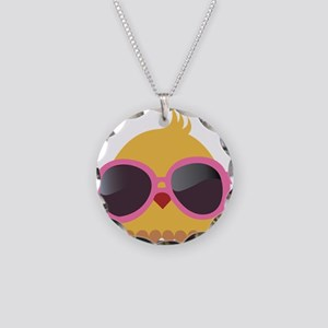 Chick Wearing Sunglasses Necklace