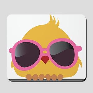 Chick Wearing Sunglasses Mousepad