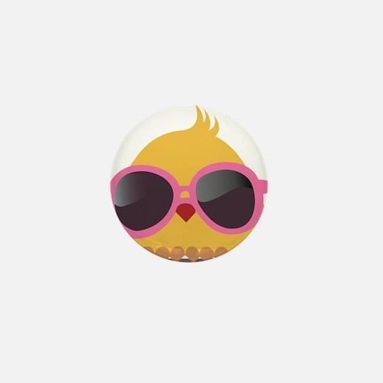 Chick Wearing Sunglasses Mini Button