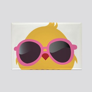 Chick Wearing Sunglasses Rectangle Magnet