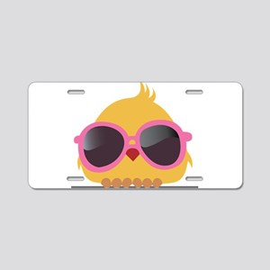 Chick Wearing Sunglasses Aluminum License Plate