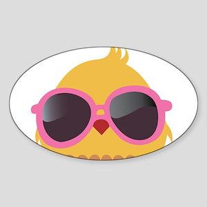 Chick Wearing Sunglasses Sticker