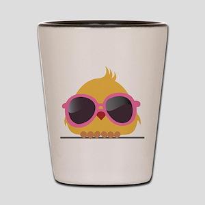 Chick Wearing Sunglasses Shot Glass