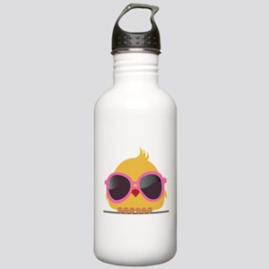 Chick Wearing Sunglasses Water Bottle