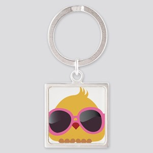 Chick Wearing Sunglasses Keychains