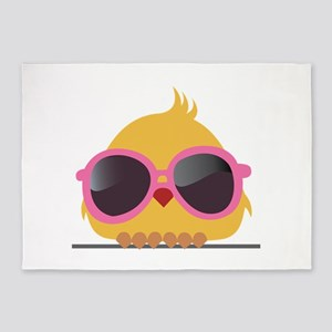Chick Wearing Sunglasses 5'x7'Area Rug