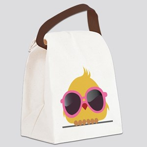Chick Wearing Sunglasses Canvas Lunch Bag