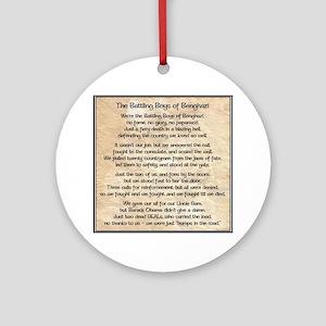 Benghazi Poem Ornament (Round)