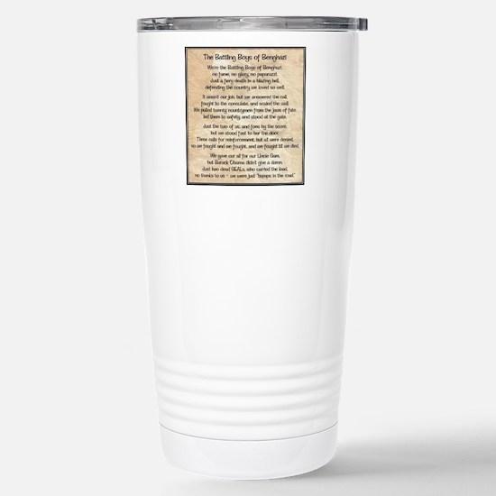 Benghazi Poem Travel Mug