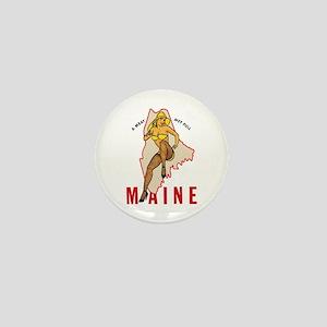 Maine Pinup Mini Button